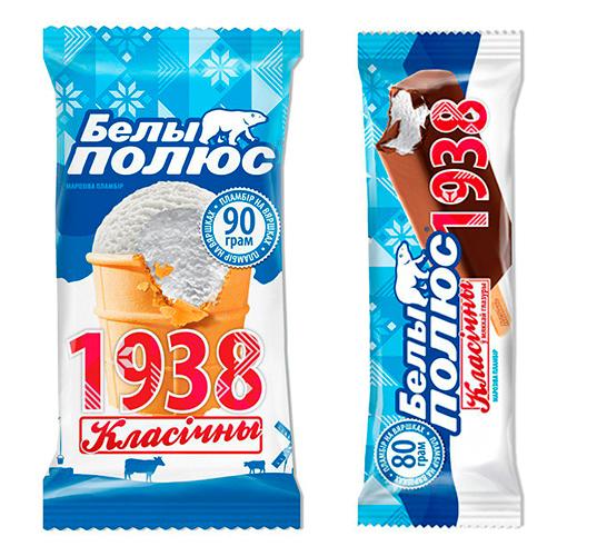 Мороженое без добавок «Белы полюс 1938» компании «Ингман Мороженое»
