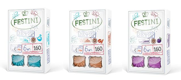 Новая торговая марка зефира Festini для «Красного пищевика» Компания стратегического брендинга PG branding