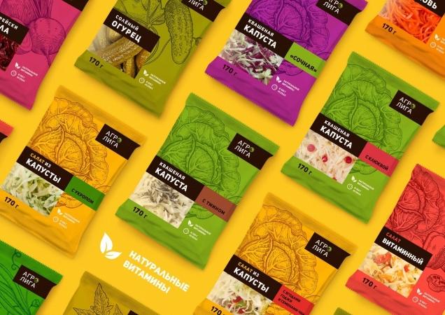 Дизайн упаковки квашений для ТМ «АгроЛига»