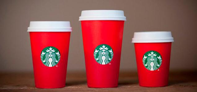 красные стаканчики Starbucks к Рождеству