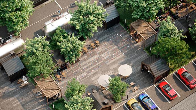 В Минске рядом с «Комаровским рынком» откроется фудмаркет Lidbeer DVOR европейского образца